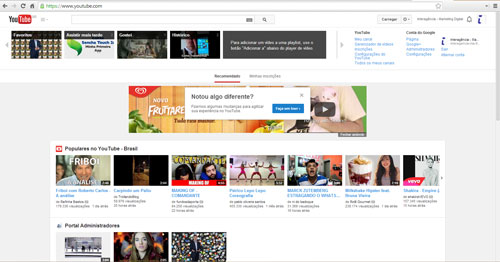 redesign youtube layout